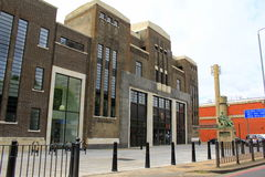 Poplar Baths Leisure center London. Poplar Baths on the East India Dock Road in Poplar, London is a former public bath house and Grade II listed building that Royalty Free Stock Image