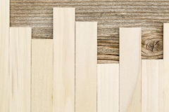 Poplar and cedar wood texture. Unfinished poplar and weathered cedar wood texture - vertical and horizontal narrow planks Stock Photo