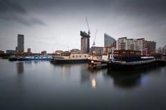 Poplar Dock Marina, London. Stock Photos