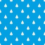 Poplar leaf pattern seamless blue Royalty Free Stock Photography