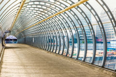 Poplar Pedestrian Footbridge Royalty Free Stock Image