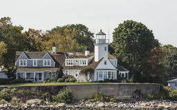 Poplar Point, Newport, RI. This is a view from the water of Poplar Point in Newport, RI Stock Photo