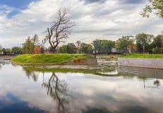 Poplavok Pond in Kaliningrad. Russia. Stock Photography