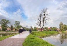 Poplavok Pond in Kaliningrad. Russia. Royalty Free Stock Photos