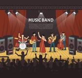 Popmusik-Band-Vektor-Illustration Lizenzfreie Stockfotografie