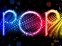 Popmusik-Party-Auszug auf schwarzem Hintergrund Stockbild
