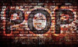 Popmuziek op de muur Stock Fotografie