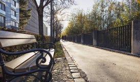 popołudnia asfaltowej jesień kolorowa znakomita ulistnienia droga pogodna Fotografia Stock