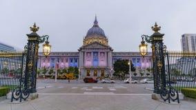 Popołudnie noc ruchu timelapse San Fransisco urząd miasta zbiory wideo