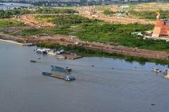 Popołudnie przy Saigon rzeką Fotografia Royalty Free