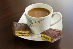 Popołudniowa kawa i tort obrazy stock