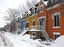 popołudniowego tła mosta Canada cartier target1312_1_ Jacques opóźneni Lawrence Montreal starzy ludzie przesyłają Quebec zima rze fotografia royalty free