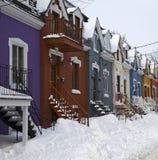 popołudniowego tła mosta Canada cartier target1312_1_ Jacques opóźneni Lawrence Montreal starzy ludzie przesyłają Quebec zima rze Zdjęcia Royalty Free