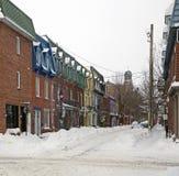 popołudniowego tła mosta Canada cartier target1312_1_ Jacques opóźneni Lawrence Montreal starzy ludzie przesyłają Quebec zima rze Obraz Royalty Free