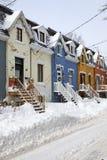 popołudniowego tła mosta Canada cartier target1312_1_ Jacques opóźneni Lawrence Montreal starzy ludzie przesyłają Quebec zima rze Zdjęcia Stock