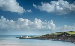 Popołudniowy słońce, kaplica punkt, Cornwall obrazy stock