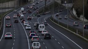 Popołudniowy scena ruch drogowy wejście Barcelona (czas rzeczywisty) zdjęcie wideo