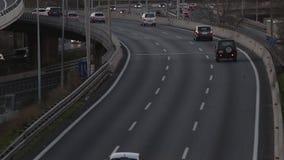 Popołudniowy scena ruch drogowy wejście Barcelona (czas rzeczywisty) zbiory