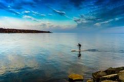 Popołudnie Ontario jezioro w Toronto, Kanada Obrazy Stock