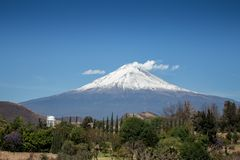Popocatepetl asleep colossus royalty free stock photography