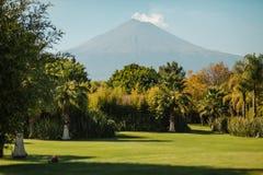 Popocatepetl de paysage de volcan de Puebla Mexique images stock