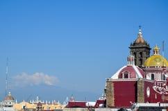 Popocatepetl på soluppgång, Puebla, Mexico 17th May Arkivbild
