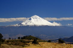 Popocatepetl with snow Stock Photo