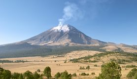 Popocatepetl volcano royalty free stock photo