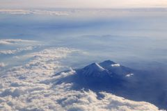 Popocatepetl volcano airplane aerial view Stock Photography