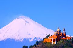 Popocatepetl volcano II Royalty Free Stock Photo