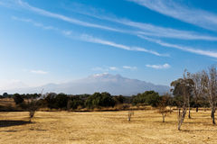 Popocatepetl  volcano in Mexico Royalty Free Stock Photography