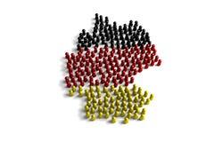 Popolazione della Germania Immagine Stock