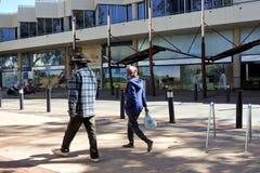 Popolazioni autoctone di aborigeno disoccupato fotografia stock