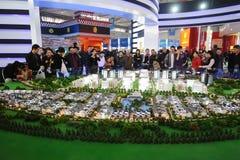 Popolo cinese che compra casa Fotografie Stock