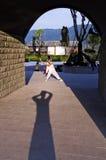 Popolo cinese che fa esercizio fisico nella mattina Fotografia Stock