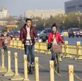 Popolo cinese di mezzi di trasporto Fotografie Stock Libere da Diritti