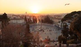 popolo del аркады городок захода солнца sim гор ural Италия rome Стоковое Изображение RF