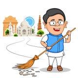 Popolo indiano che desidera festa dell'indipendenza felice dell'India Immagine Stock
