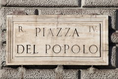 Popolo Square in Rome Stock Photo