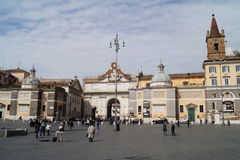 Popolo Square in Rome Royalty Free Stock Photos