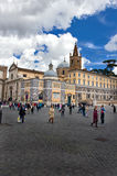 Popolo Square in Rome Stock Image