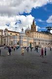 Popolo Square in Rome Stock Image
