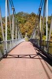 Popolopen Creek Suspension Footbridge Royalty Free Stock Images
