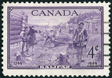 PoPostage stamp - Canada. Postage stamp - Canada Halifax - High quality royalty free stock photo