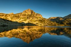 Popovo Lake and Jangal mountain in Pirin National Park,Bulgaria. stock photography