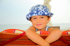 Popoye the sailor (boy portrait) Stock Image