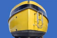 Poppa della barca gialla Fotografie Stock Libere da Diritti