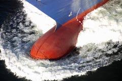 Poppa di un'imbarcazione di contenitore Fotografie Stock Libere da Diritti