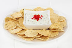 Poppadums and Cucumber Raita Stock Image