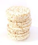 Popped rice bread. Stack of popped bread - healthy crispy bread Stock Photo